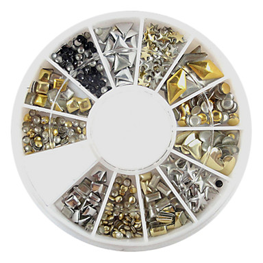 1 pcs Nail Art Kit Bijuterie unghii nail art pedichiura si manichiura Zilnic Abstract / Modă / Unghiul de bijuterii / MetalPistol