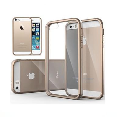 olcso Apple tartozékok-Case Kompatibilitás iPhone 5 iPhone SE / 5s / iPhone 5 Átlátszó Fekete tok Egyszínű Kemény PC