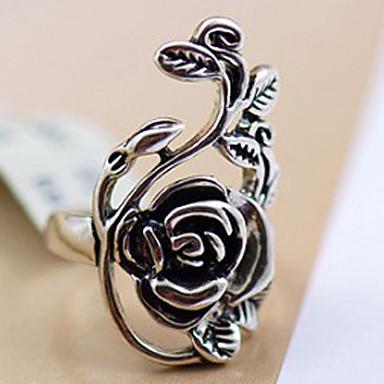 olcso Vallomás gyűrűk-Női Nyilatkozat gyűrű Ötvözet hölgyek Személyre szabott Vintage Parti Napi Ékszerek Kézműves Rózsák Virág