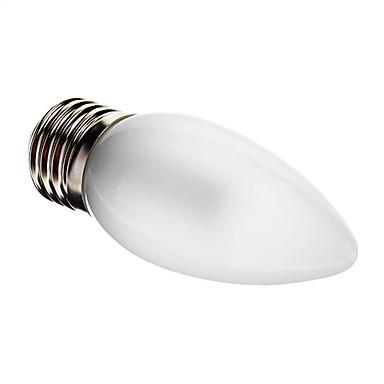 1 buc 3 W Becuri LED Lumânare 100-150 lm E26 / E27 C35 25 LED-uri de margele SMD 3014 Decorativ Alb Cald 220-240 V / RoHs