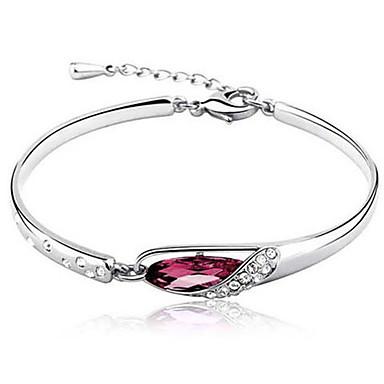 Brățări Bangle Solitaire Plin de graţie femei Lux Design Unic Casual Diamant Bijuterii brățară Mov / Rosu / Albastru Pentru Petrecere Cadou aleasă a inimii / Diamante Artificiale