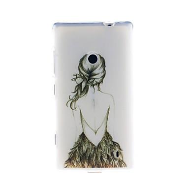 Maska Pentru Nokia Lumia 520 / Nokia Model Capac Spate Femeie Sexy Moale TPU