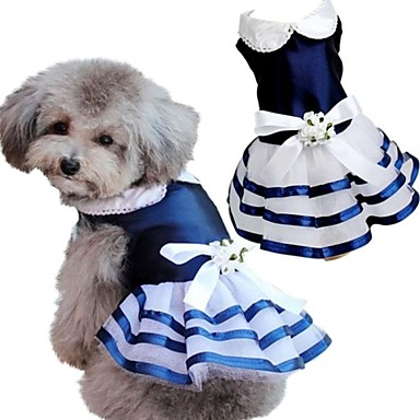 super hermosa con traje azul marino vestido de novia para mascotas
