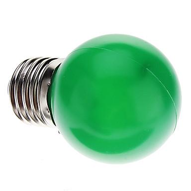 1 buc 0.5 W Bulb LED Glob 30 lm E26 / E27 G45 7 LED-uri de margele Dip LED Decorativ Verde 100-240 V / RoHs