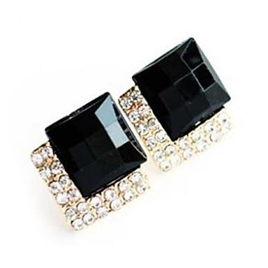 46de859cb Syntetický safír Barva ozdobného kamene Přírodní černá Peckové náušnice  Umělé diamanty Náušnice Luxus Evropský Módní Šperky Pro Párty Denní Ležérní  1292730 ...