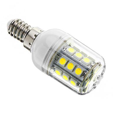 1 buc 3 W Becuri LED Corn 350-400 lm E14 T 27 LED-uri de margele SMD 5050 Intensitate Luminoasă Reglabilă Alb Rece 220-240 V