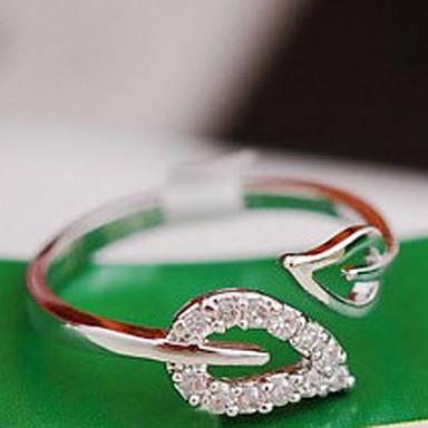 Pentru femei Band Ring degetul mare Zirconiu Cubic diamant mic 1 buc Auriu Argintiu Zirconiu Cubic Aliaj femei Neobijnuit Design Unic Nuntă Petrecere Bijuterii Leaf Shape Inimă Ieftin