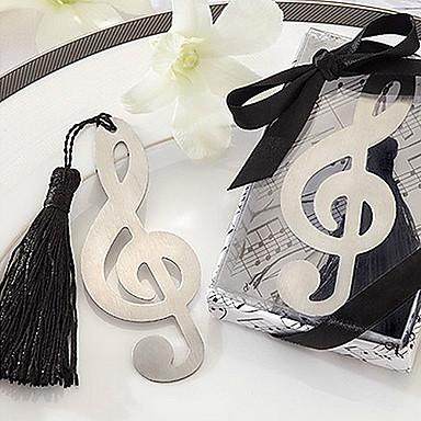 drăguț nota muzică gol cu ciucuri 8,8 * 3,6 * 1 marcaje de metal& clipuri (argint, 1 buc)