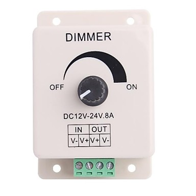 Led Knob-control operat Dimmer Luminozitate reglabila controler pentru LED-uri de lumină (DC12-24V 8A)