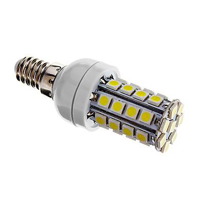 Becuri LED Corn 480 lm E14 T 36 LED-uri de margele SMD 5050 Intensitate Luminoasă Reglabilă Alb Rece 220-240 V