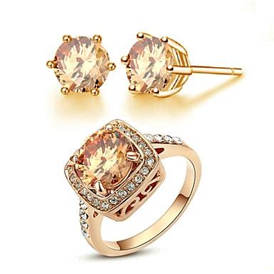 18k nousi kullattu samppanja kulta kristalli simuloitu timantti korvakorut  sormus sarjaa 1321063 2019 – hintaan €19.99 6ad4c1334a