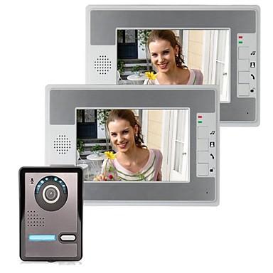 povoljno Sustavi kontrole pristupa-7-inčni ip video vrata telefon ulazni interfon ulaz sa dva monitora +1 ir kamera noćno videnje 420 tvline podrška daljinsko otključavanje handsfree