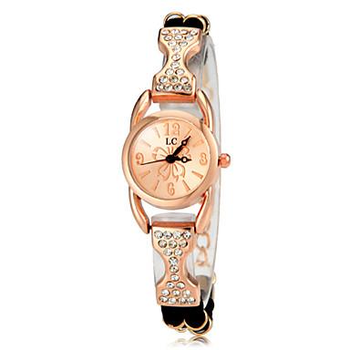 Pentru femei Ceasuri de lux Ceas Casual Ceas Brățară Quartz Placat Cu Aur Roz Negru / Alb / Violet imitație de diamant Analog femei Elegant - Negru Mov Trandafiriu