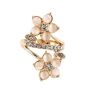 2014 New Fashion Design Centrosymmetric Flower Shape Gold Ring