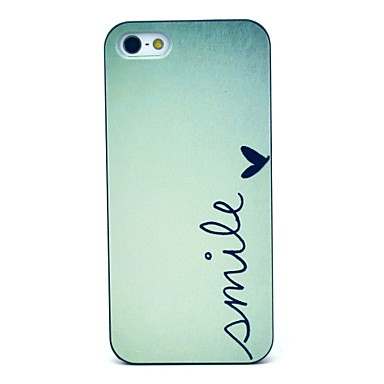 voordelige iPhone 5 hoesjes-hoesje Voor iPhone 5 / Apple iPhone SE / 5s / iPhone 5 Patroon Achterkant Woord / tekst Hard PC