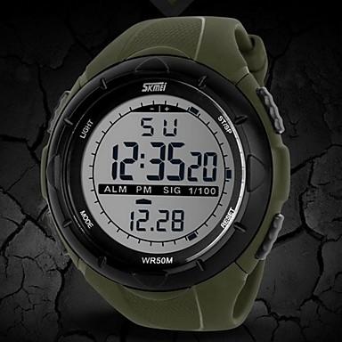SKMEI Bărbați Ceas Sport Ceas de Mână Ceas digital Digital Cauciuc Negru / Albastru / Gri 30 m Rezistent la Apă Alarmă Calendar Piloane de Menținut Carnea Modă - Negru Gri Verde Doi ani Durată de