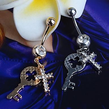 Ombligo joyas conector cristal Love remolque