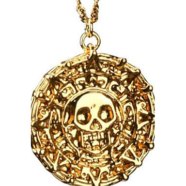 Bărbați Coliere cu Pandativ Monedă Craniu Halloween Calaveras Memento Mori Vintage Aliaj Bronz Auriu Coliere Bijuterii Pentru Cadouri de Crăciun Petrecere Zilnic Casual