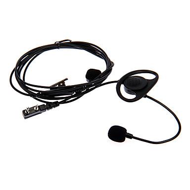 vinger-tick 03 motorfiets vinger gecontroleerd oortelefoon voor twee manier radio baofeng Wanhua wouxun- zwart