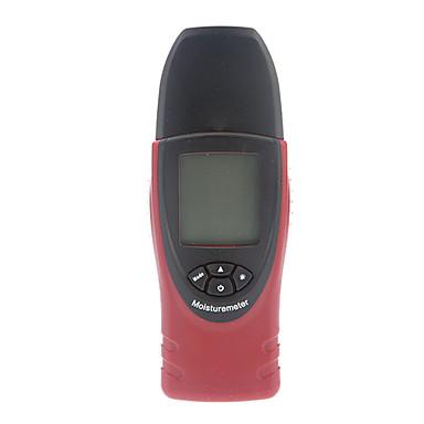 Digital Lemn De Umiditate Meter, cherestea umed Tester Building Material Umiditate Meter (0.0% ~ 54.8% / -10 ~ 50 ℃, 0,1% / 0,1 ℃)