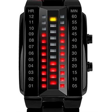 SKMEI Bărbați Ceas de Mână Ceas digital Piloane de Menținut Carnea Negru / Argint 30 m Rezistent la Apă Calendar Piloane de Menținut Carnea Lux - Negru Argintiu Doi ani Durată de Viaţă Baterie