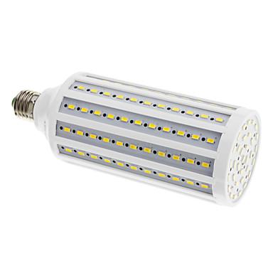 Becuri LED Corn 2400 lm E26 / E27 165 LED-uri de margele SMD 5630 Alb Cald 220-240 V