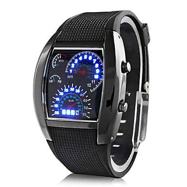 رخيصةأون ساعات الرجال-رجالي ساعة المعصم ساعة رقمية رقمي مطاط أسود رزنامه إبداعي رقمي أزرق داكن بني أزرق فاتح سنتان عمر البطارية / باناسونيك CR2032