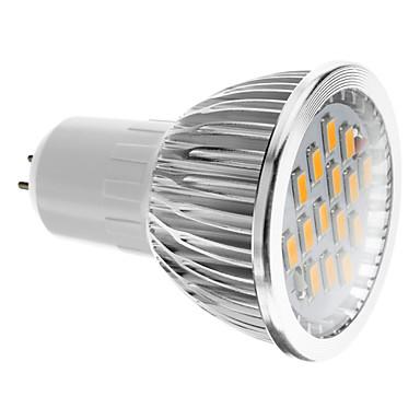 Spoturi LED 380 lm GU5.3(MR16) 15 LED-uri de margele SMD 5730 Alb Cald 100-240 V
