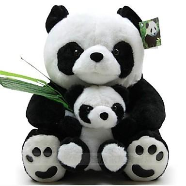 LeGou 23cm Mother and Child Panda Stuffed Toy (Black&White)