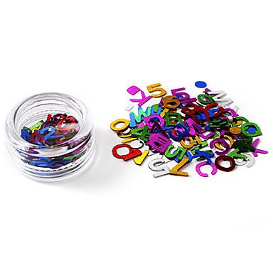 80 pcs Strălucire Bijuterie unghii nail art pedichiura si manichiura Zilnic Abstract / Modă / Unghiul de bijuterii