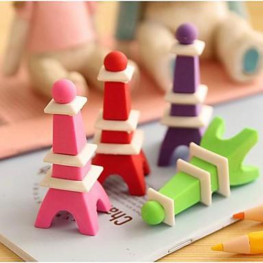 Eraser detașabil Turnul Eiffel formă (Random Color)