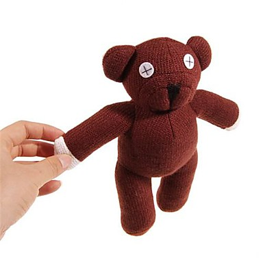 olcso Plüssjátékok-Aranyos Mr Bean Bear Bear Doll Plüss ábra Brown