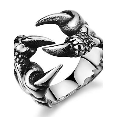 Bărbați Band Ring Zirconiu Cubic 1 buc Argintiu Teak Zirconiu Oțel titan Lux Cadouri de Crăciun Petrecere Bijuterii Σταυρός Craniu Halloween / Diamante Artificiale