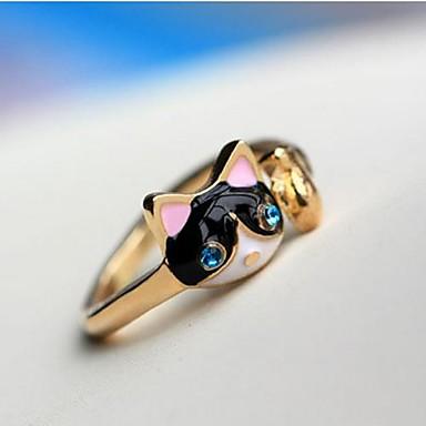 Pentru femei Inel de declarație Pussy Rings Diamant sintetic Albastru Închis Diamante Artificiale Aliaj femei Personalizat Lux Petrecere Zilnic Bijuterii Pisici Animal Ieftin / Cristal