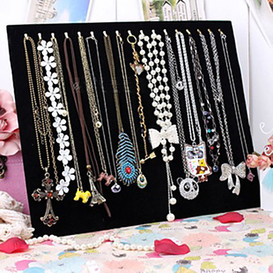 ieftine Împachetare Bijuterii & Ecrane-Pătrat Prezentări de Bijuterii - Modă Negru 37.5 cm 30.5 cm 3 cm / Pentru femei