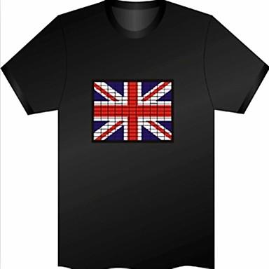 Drapelul Regatul Unit model de voce controlat Flash Placa (Non inclus T-shrit)