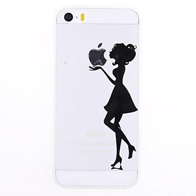 Θήκη Za iPhone 5 / Apple iPhone SE / 5s / iPhone 5 Prozirno / Uzorak Stražnja maska Igra s Appleovim logom Mekano TPU