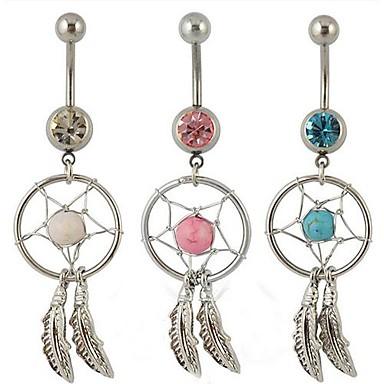 Cristal Inel inelar / Piercing pe burta - Cristal Pentru femei Bijuterii de corp Pentru Zilnic / Casual