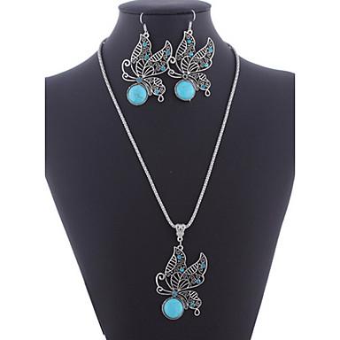 Turcoaz Seturi de bijuterii femei stil vestic cercei Bijuterii Pentru Petrecere Zilnic Casual / Cercei / Coliere