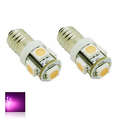 e10 1w 5x5050 smd rosa luzes lâmpada led para diy (dc 12v, 2 pacotes