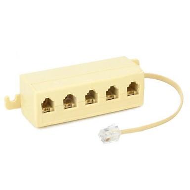 1to5 multifuncționale RJ11 de telefon prin cablu Junction Box Adapter Split,