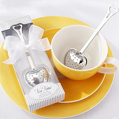 infuzor de ceai din oțel inoxidabil pentru ceai din timp de ceai în cadou elegant alb cadou de nuntă