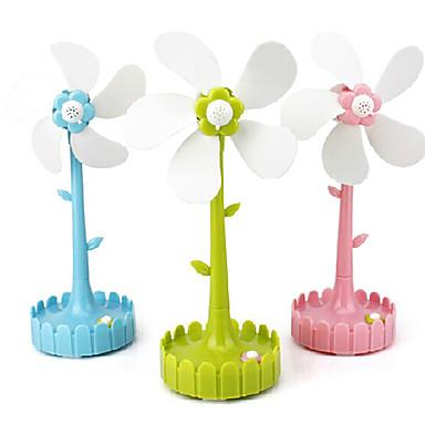 Недорогие Все для здоровья и личного пользования-В форме цветка USB и батарейным питанием электрический вентилятор