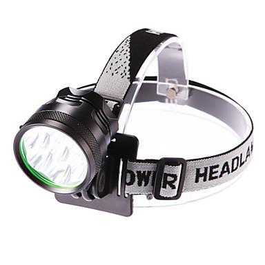 Frontale Becul farurilor Rezistent la apă 3500 lm LED LED 7 emițători 3 Mod Zbor Cu Baterie și Încărcător Rezistent la apă Focalizare Ajustabilă Camping / Cățărare / Speologie Utilizare Zilnic