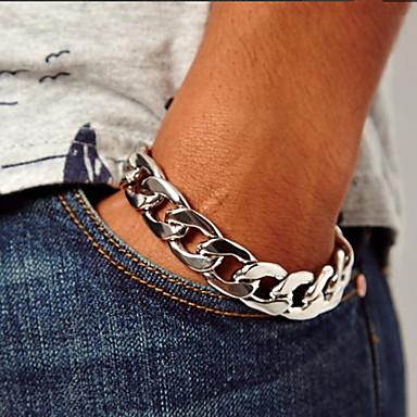 cheap Men's Bracelets-Chain Bracelet Unique Design Vintage Fashion Alloy Bracelet Jewelry Silver / Golden For Christmas Gifts Party Daily Casual