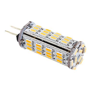 YWXLIGHT® 1 buc Becuri LED Corn 339 lm G4 T 57 LED-uri de margele SMD 3014 Alb Cald 12 V