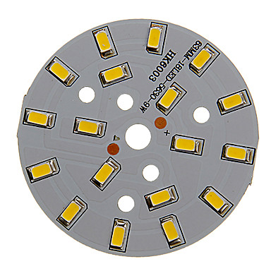 halpa LED-tarvikkeet-zdm 1kpl 9w 500-550lm 18 x 5730 smd led-lamppuinen led-valolähdemoduuli lämmin valkoinen valo 3000-3500 k alumiinisubstraatti (dc21-24v, 300ma)