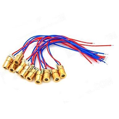 5mW 650nm Cupru Semiconductor laser Dot Diode cap Set - Roșu + Albastru + de Aur (10 PCS)