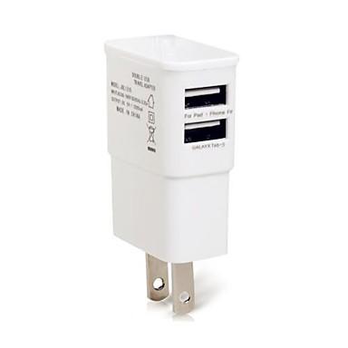 billige Telefontilbehør-Stasjonær lader / Bærbar lader USB-lader Us Plugg Flere porter 2 USB-porter 1 A til
