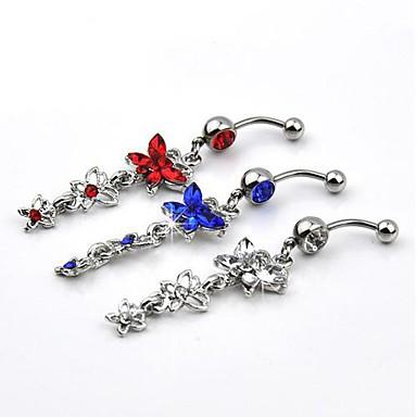 Bijuterii de corp 2.8 cm Inel inelar / Piercing pe burta Cristal Cristal / Teak Costum de bijuterii Pentru Petrecere / Zilnic / Casual 2.8*0.8*0.6 cm Vară
